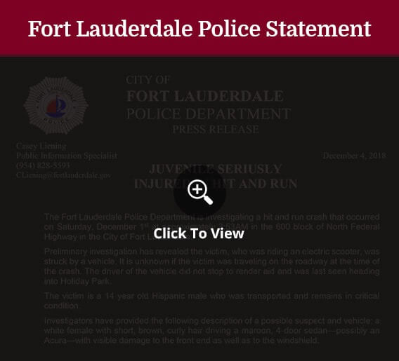 FORT LAUDERDALE POLICE STATEMENT