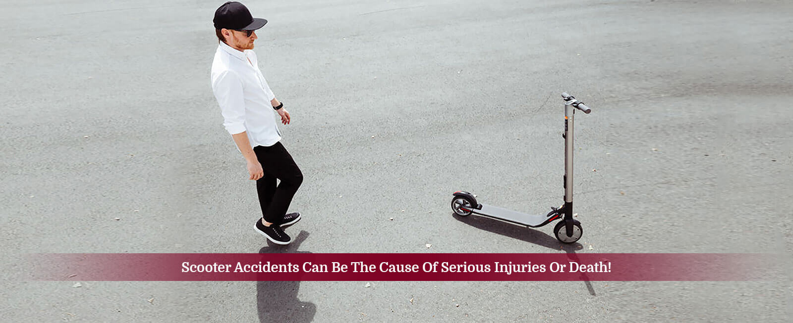 Scooter Accidents can be the cause of serious injuries or death!